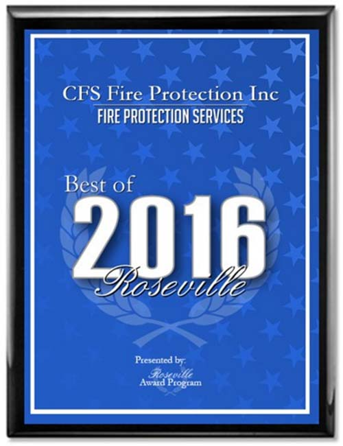 Best of 2016 - Fire Protection Services Awarded to CFS Fire Protection, Inc. a Professional Fire Protection and Fire Code Compliance Inspection, Testing and Certification Services Company in Half Moon Bay, California 94019.