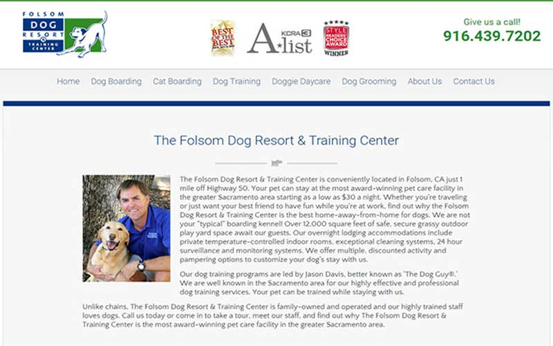 Fire Extinguisher Inspection, Testing & Recharge Service Customer Review by Jake Romero, Owner of Folsom Dog Resort, Folsom, CA 95630.