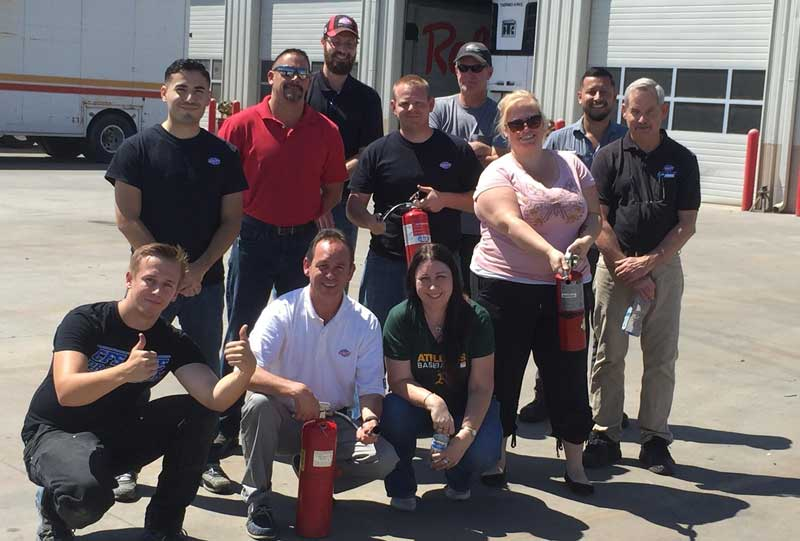 Fire Extinguisher & Suppression Systems Staff Training Services Customer Review by Carrie, Office Manager of Utility Trailer Sales Central California, Lathrop, CA 95330.