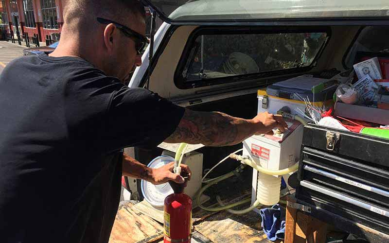 Fire Extinguisher Inspection & Annual Certification Services Customer Review by Betty, Manager, KWD Construction, Vacaville, CA 95688.
