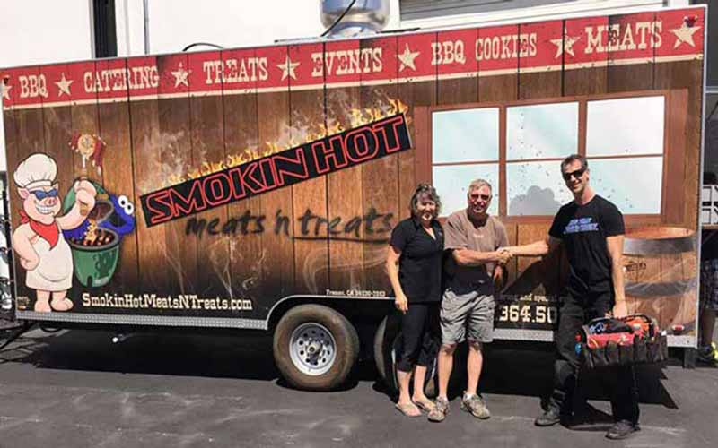Fire Extinguisher & Food Truck Kitchen Inspection Service Customer Review by Doug Westby, Owner of Smokin' Hot Meats 'n Treats, Valley Springs, CA 95252.